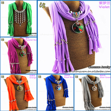 High quality wholesale charm pendant beads long scarf necklace