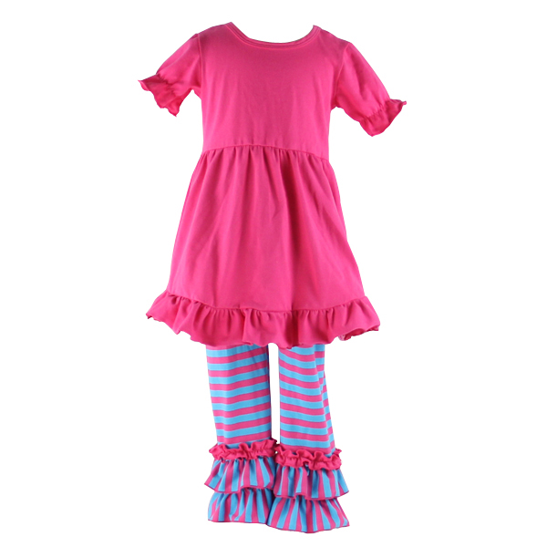 Kaiyo kids clothing wholesale cotton ruffle dresses for girls of 10 years old girls outfits