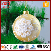 Christmas tree ornament glass hollow ball for decoration