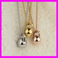 KD9934 High quality 2016 latest silver dumbbell pendant necklace