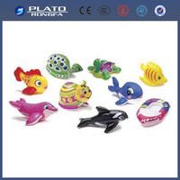 various and colorful small zoo animals plastic toys, inflatable models, animal toys for kids