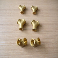 forged three way bass pipe fitting ,brass y type connector , pneumatic connector