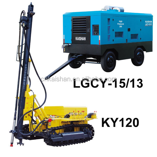 Kaishan Air Compressor For Borehole drilling Machine KY120 For Sale