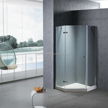 Diamond frameless walk in bathroom shower cabin,hinge shower enclosure with glass screen,shower cubicles