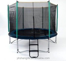 10ft custom made trampolines with foam pit for sale and thick safety netting