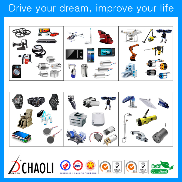 Small in size and light weight wheel motor CL-1027 with carbon brush
