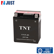 Hot sale 12v 7ah maintenance free rechargeable motorcycle battery