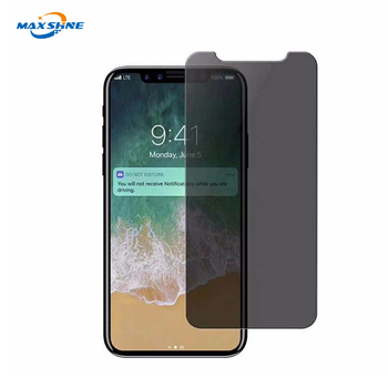 Anti Spy 2.5D Clear Privacy screen protector for iphone x tempered glass