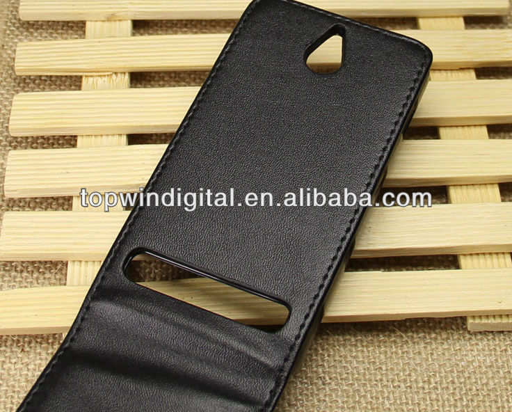 Hot Sell Up-Down PU Leather Flip Case For Sony Xperia E1 With Back Cover