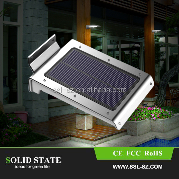 PIR Solar Sensor Light46 LED Wall Lamp Infrared Motion Outdoor Corridor Garden Light Lamp For Gate
