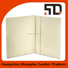 Popular Product Low Price Real Leather Restaurant Menu Cover with Logo