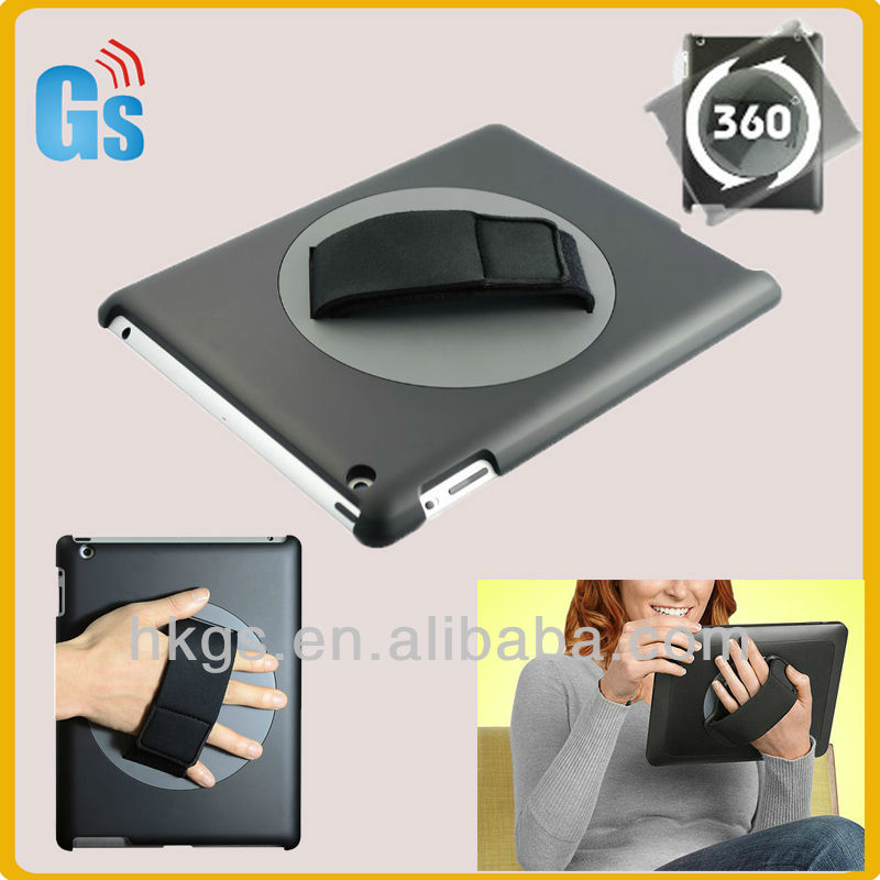 Smart design 360 degree rotate for ipad case with hand holder
