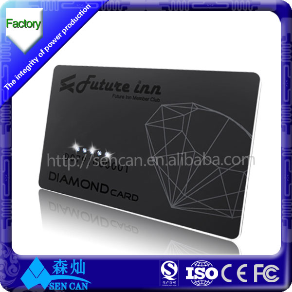 Aluminum Cheap Metal Business Cards metal Black Card In