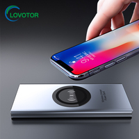 Hot Sell Rechargeable qi wireless power bank 12000mah for Samsung