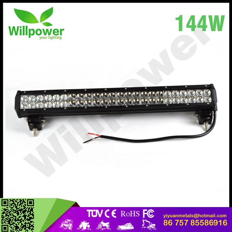 "Factory direct sell 22.5"" inch led light bar offroad 144 <strong>w</strong> watt super slim led light bar amber led light bar for Jeeps,trucks"