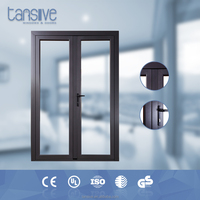 aluminum double glazed double swing french doors wholesale price