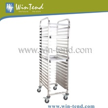 Stainless Steel Service Cart Trolley for Bakery Shop