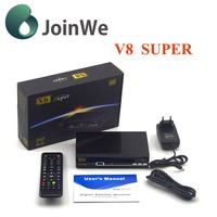 Joinwe New Freesat V8 Super DVB-S2 with scart for uk market 1080p hd digital satellite receiver V8 Super decoder fta set top box