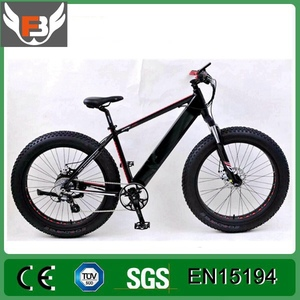 26er Fat Tire Beach Hide Battery Electric Snow Bike with 24 speed gear
