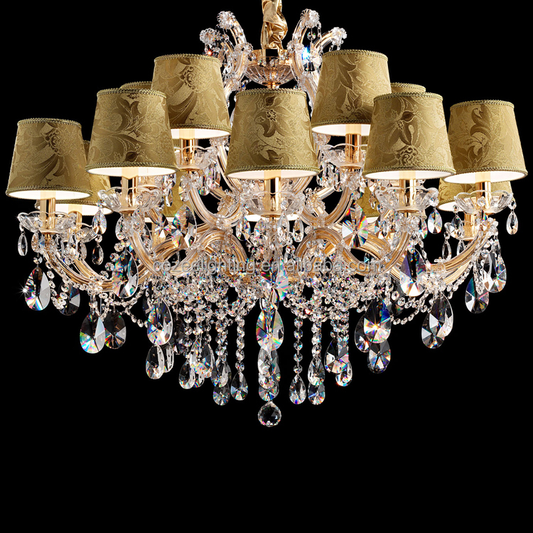 Antique Maria Theresa Cristal Chandeliers Modern Crystal Chandelier Weedind Decor Restaurant Plastic Pendant Lights CZ6086/15