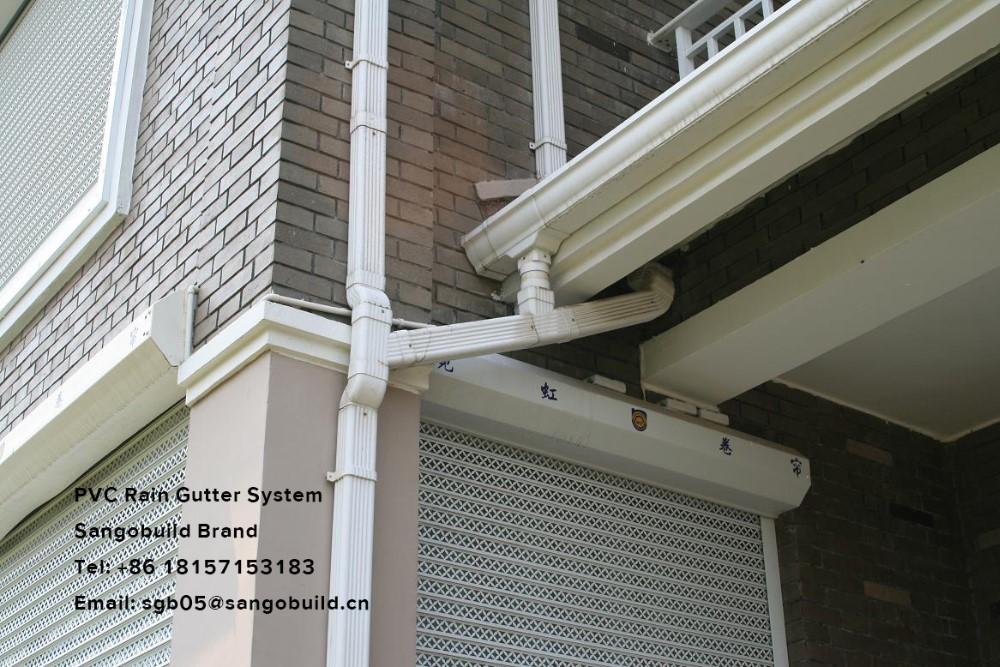 Pvc rain gutter fascia board rainwater drainage system for Gutter drainage system