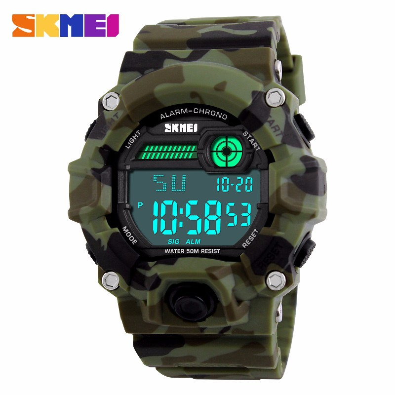 SKMEI 1197 brand factory online shopping modern watch oem with military style digital watches for <strong>men</strong>