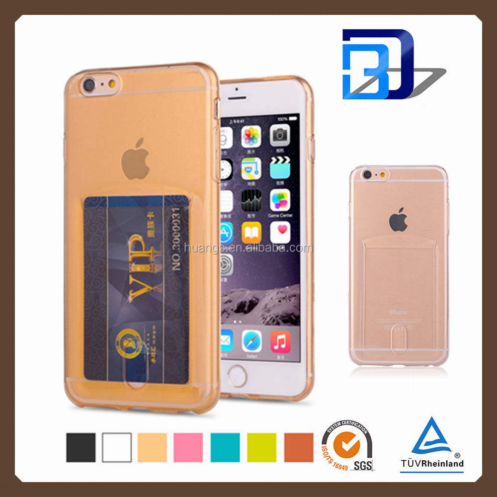 bulk buy from china soft tpu case silicone transparent clear crystal phone cover for iphone 4 5 6 6+ with card paypal accept