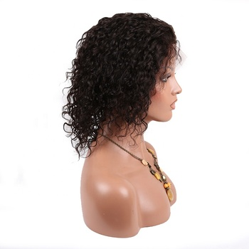 Cheapest 10 inch off black lace front wig wholesale for black women