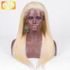 Top selling cheap Peruvian human hair full lace wigs blonde color 613 or black women