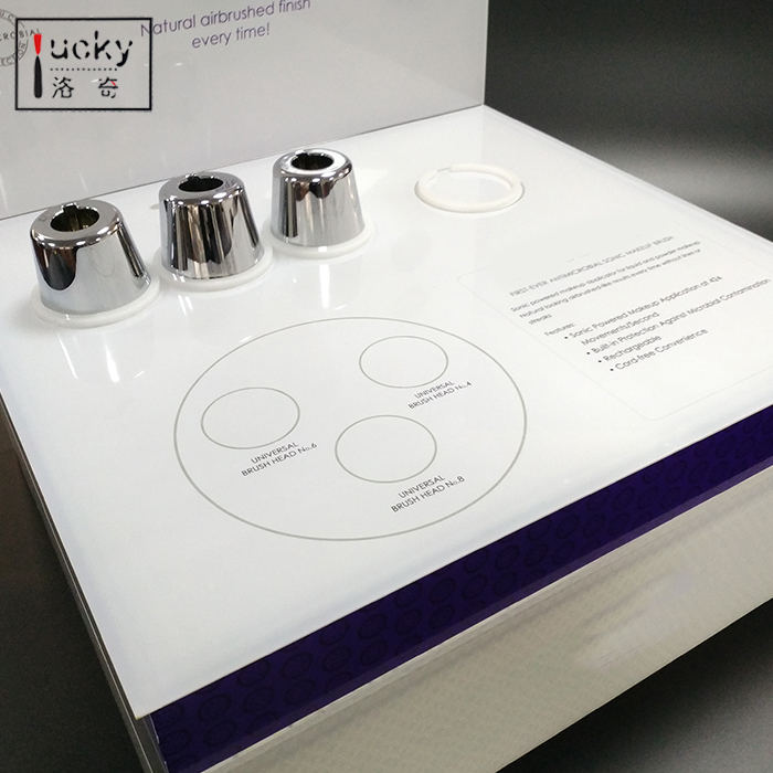 Acrylic Magnetic pop Display With Engraved Logo ,Levitation Floating shoe display with lights
