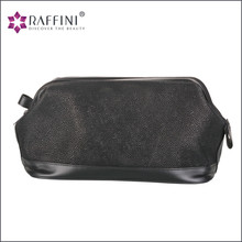 Best quality professional innovative products series best quality Suede Leather Toiletry Bag For Men