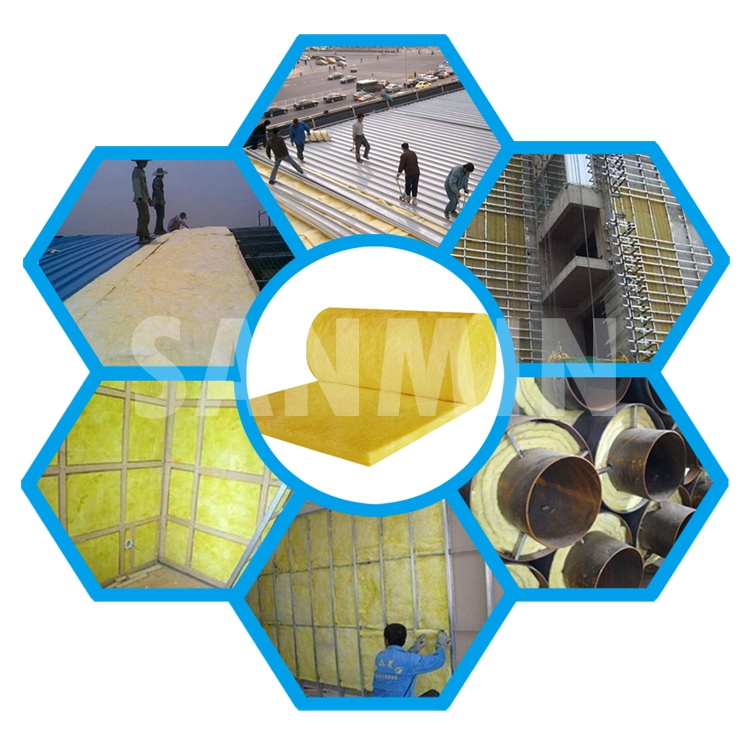 Pipe Insulation Rolls Glass Wool Blanket Durable in Use