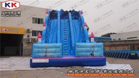 Blue Giant durable inflatable stair slide inflatable double lane slip slide
