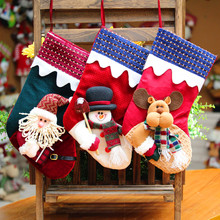 Cheap Snowman Santa Deer Christmas Stocking Socks