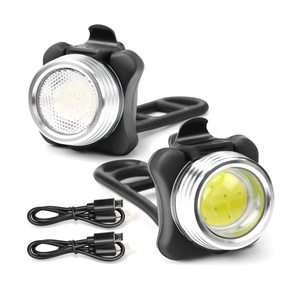Bicycle Front and Red Back Tail USB Rechargeable Led Bike Light Set