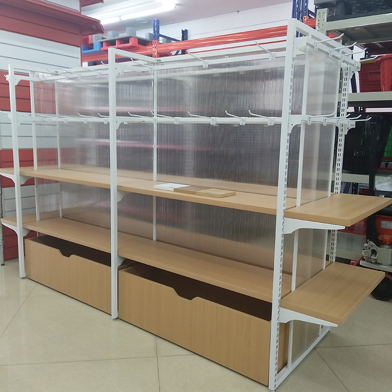 Wooden Display Shelves Miniso style Metal Modern Retail Store Display Shelf