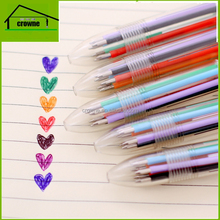 Novelty multi color ink plastic press ball pen