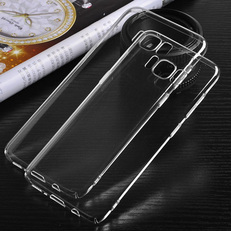 DFIFAN new arrival For samsung galaxy s8 transparent pc phone case,durable protective blank hard plastic shell for samsung s8