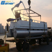 Gather Made In China High Precision Alibaba Suppliers aluminum pontoons for pontoon boat