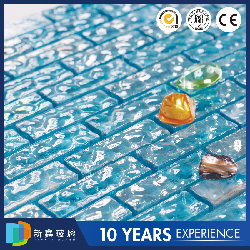 Wholesale Blue mirror glass mosaic for swimming pool tile