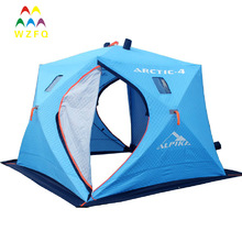Triple Layers Keep Warm Pop up Fishing Tent Ice Shelter for 4 Person
