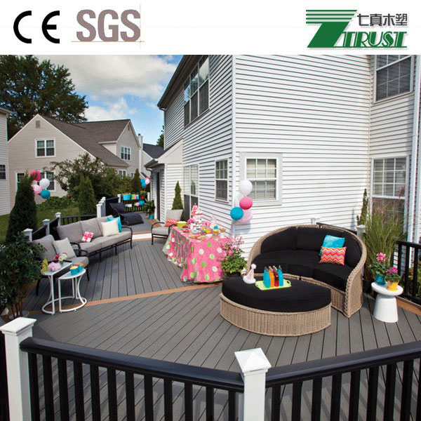 Factory low price water proof Outdoor Synthetic Teak Floor Wpc cheap composite Decking for patio and garden
