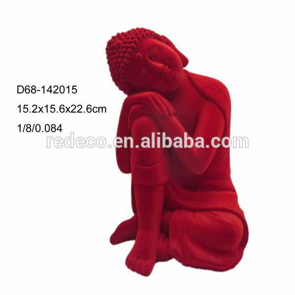 Decorative resin buddha statue mold with flocked