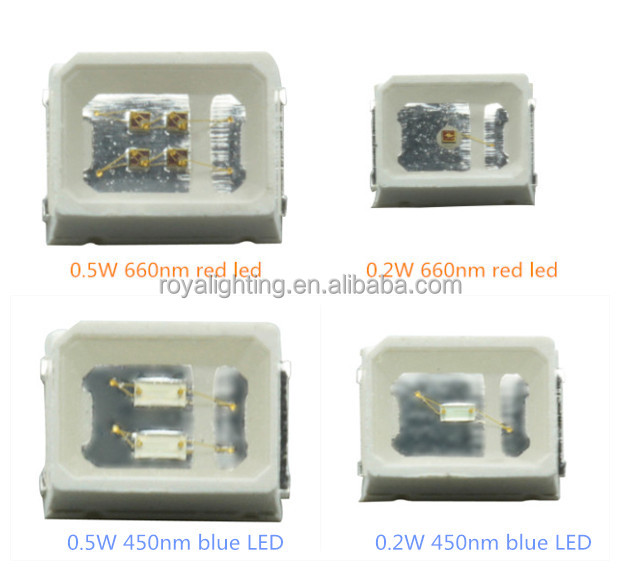 Factory price 660nm LED 4 chips 0.5W red led chips 2835
