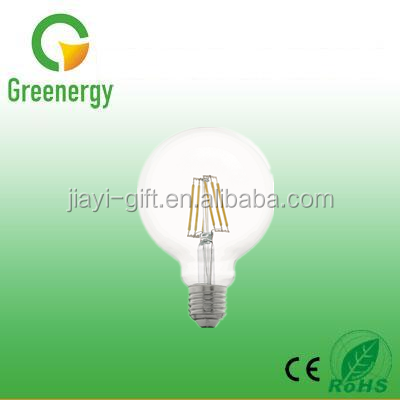 Ningbo factory Greenergy G95 LED Bulb Light 220V 8W 850lm LED Filament Bulbs