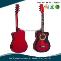 Coloful Fashion Cheap Basswood Plywood Acoustic Guitars