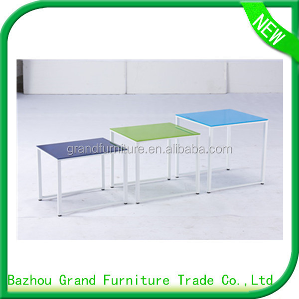 2016 New Italian Style Nesting Table Glass For Home Furniture