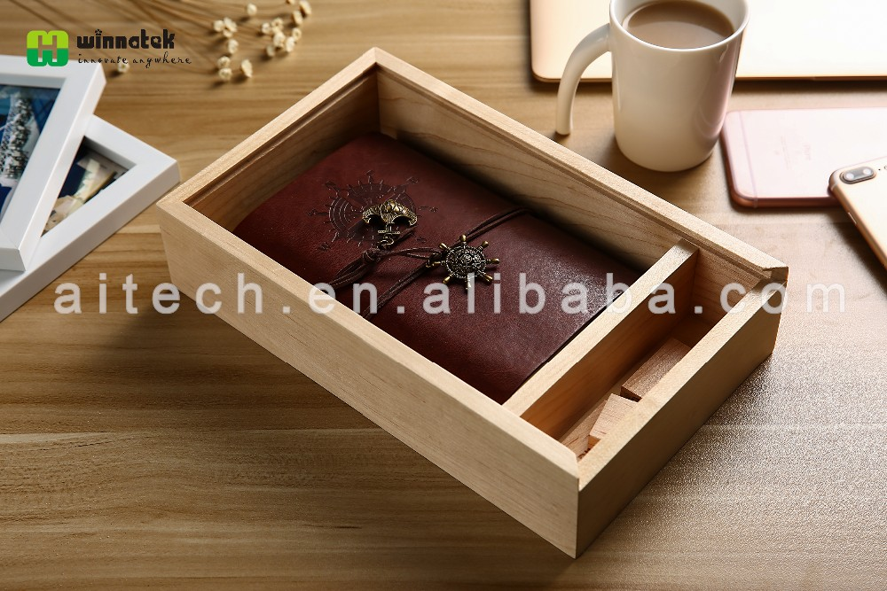classical 2 compartments wooden usb disk and photo boxes wooden packaging wholesale