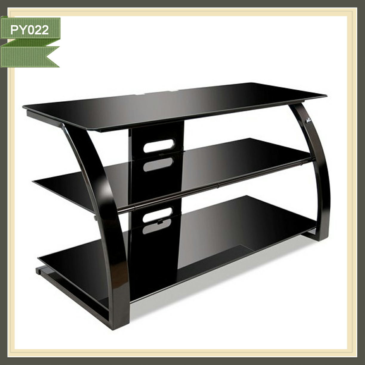 Elevator tv stand cheap crystal display cabinets PY022