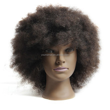 Proffessional Cheap Human Hair Africa Women Display Head, Human Hair Mannequin Head, Human Hair Training Head